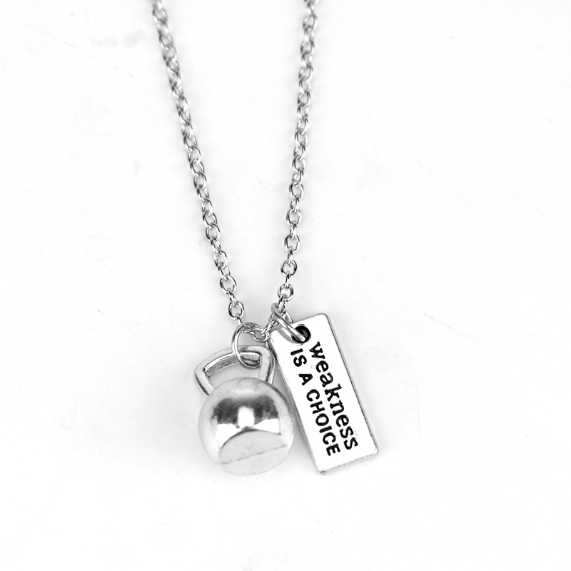 Kettlebell Pendant Dumbell Necklace Kettlebell Necklace Silver Kettlebell Necklace Kettlebell Charm Fitness Gift Dumbell Pendant