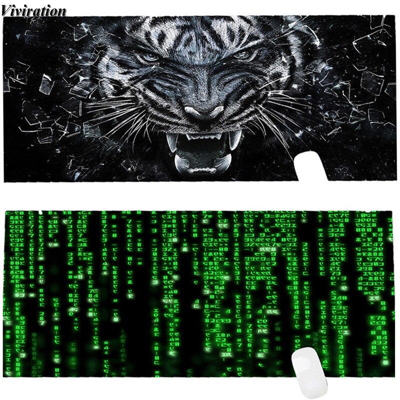 Viviration Date Impression 900x400mm Grande Taille Tapis De Verrouillage Bord Tapis de Souris Pour Dota 2 LOL CSGO Overwatch Gaming Mouse Pad