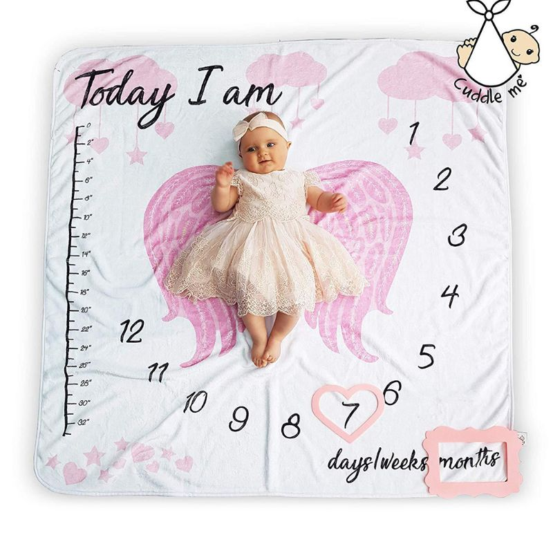 Infant Baby Photo Blanket Photography Prop Backdrop Cloth Calendar Newborn Boys Girls Photos Accessories Q81A