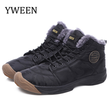 YWEEN Men boots Mens Winter Shoes Fashion Snow Boots Man Plus Size Ankle Camouflage Footwear