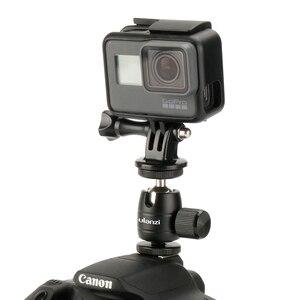 Image 5 - Ulanzi אלומיניום Ballhead 360 סיבוב כדור ראש LED צג סוגר בעל עבור iPhone Canon ניקון DSLR מצלמה Gopro גיבור 6