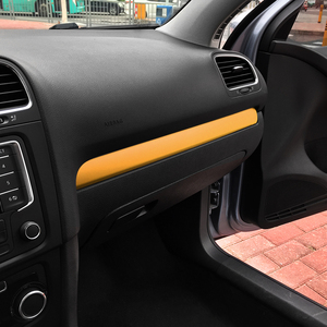 Image 4 - Glove Box Chrome Trim Colored Carbon Fiber Protection Film Sticker Decal Car Styling For Volkswagen VW Golf 6 MK6 Accessories