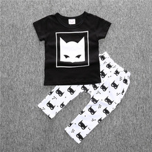 2 pcs Baby's Clothing Cotton Baby's Clothes Set Newborn T-shirt and Pants Short Sleeve Infant Baby Boys Clothing for Summer