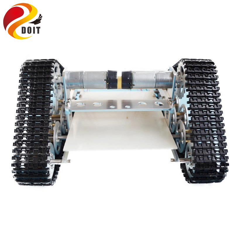 все цены на DOIT RC Metal Tank Chassis Caterpillar Wall-e Chassis Crawler for UNO Barrow load DIY RC Toy онлайн