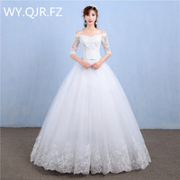 LYG Y39 Korean Style Off Shoulder Floor Length The New 2017 Winter Show Thin Wedding Dress