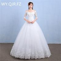 LYG Y39 Korean Style Off Shoulder Floor Length The New 2017 Winter Show Thin Wedding Dress