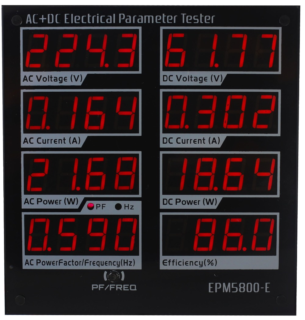EPM5800-E AC/DC power meter/ watt meter/Electrical paremeters tester/ test Power Supply/Driver/efficiency/ac /DC hp9800 pc usb port 4500w 85v 110v 220v 265v ac 20a electric power energy monitor tester watt meter analyzer with socket output
