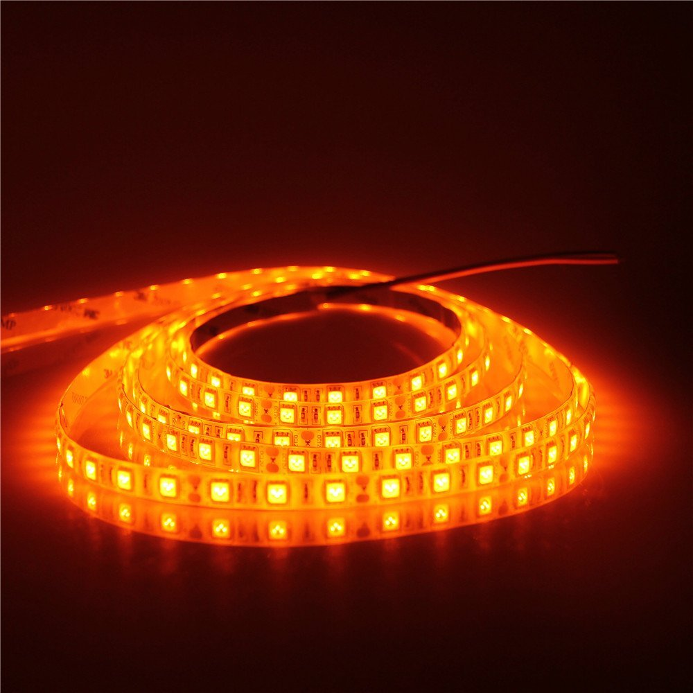 Humble Mokungit 16.4ft 5050 Smd Orange Color Led Flexible Strip Light Lamp 5m 300 Leds Ip30 Ip65 12vdc For Home Hotels Clubs Led Strips Lights & Lighting
