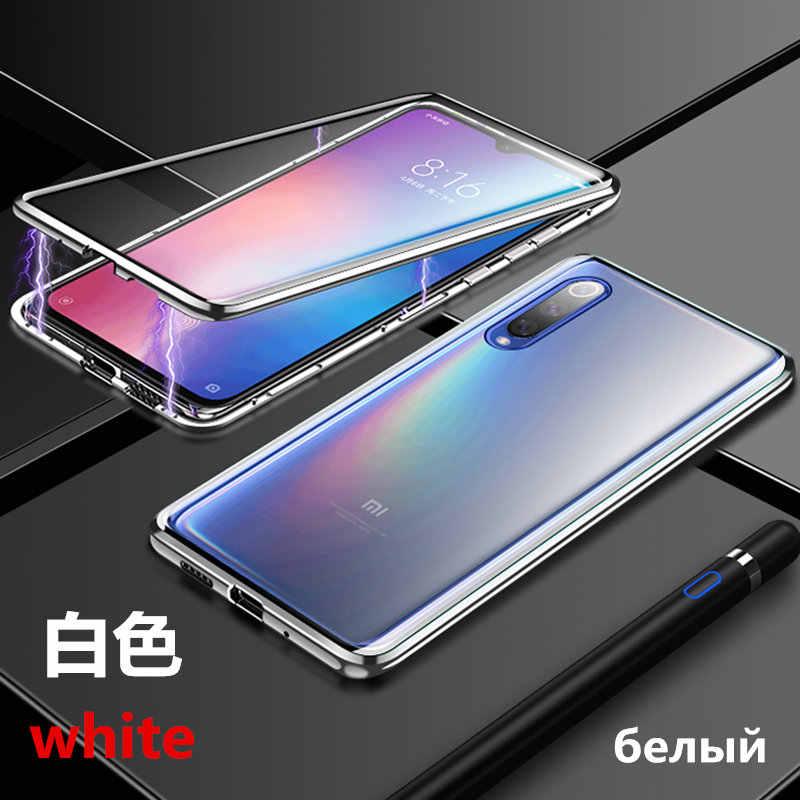 Оригинальный чехол для redmi note 7 mi 8 8se mi 9 pocophone f1xiao mi 9se Магнитная Адсорбция металлическая рамка прозрачный защитный чехол