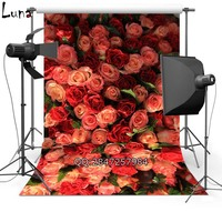 MEHOFOTO Floral Vinyl Photography Background For Wedding Red Rose New Fabric Flannel Backdrop For Lover photo studio 2430