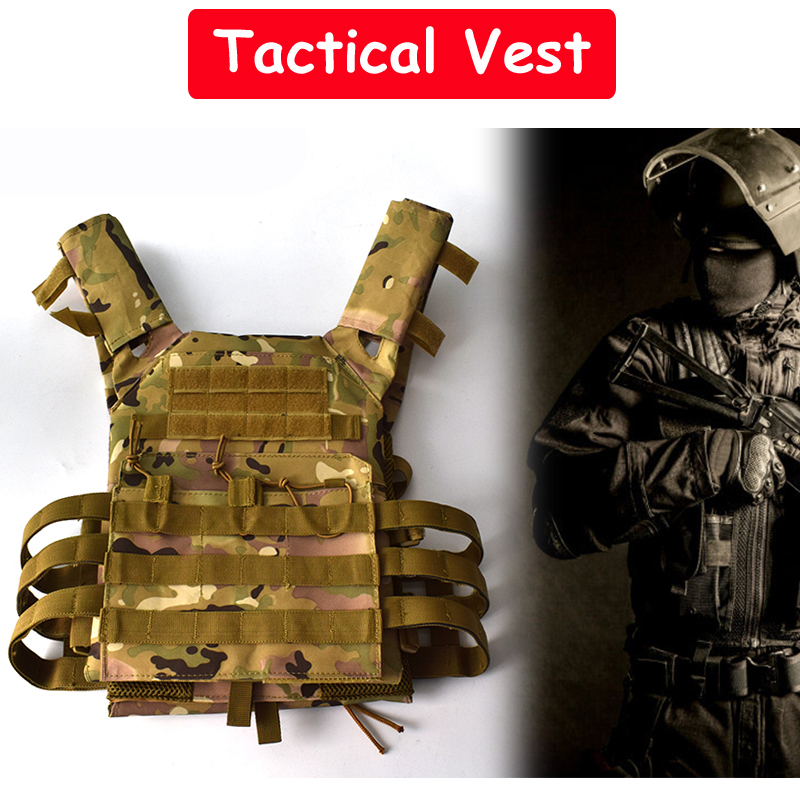 Army Military Equipment Tactical Vest Paintball Airsoft Hunting Vest Combat Protective Carrier Vest Outdoor Sport CS Wargame