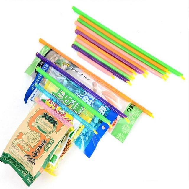 4pcs! Magic plastic bag clips food seal clip food seal stick for tea coffee snacks milk powder Freshlock Sealer kitchen Tool
