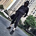 De alta Calidad de Los Hombres Mujeres Pantalones Harem Joggers Militar Del Ejército de Carga Hip Hop Kanye West Con Cordón Pantalones Pantalones Yeezy Yeezus Gira