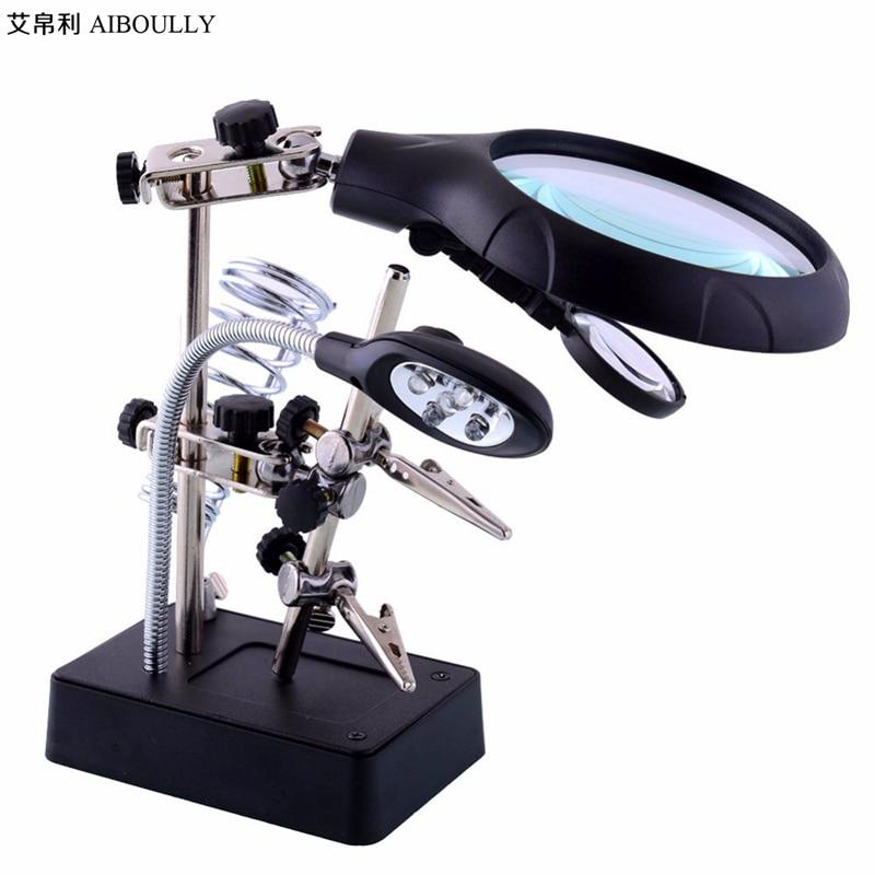 AIBOULLY MG16129 25 Vezes Lupa Ferramentas De Diagnóstico de Identificação Gem Manicure Bordado Reparação De Soldagem de Reparo Do Telefone