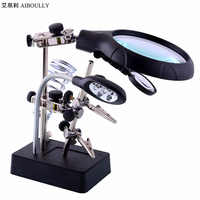 AIBOULLY MG16129 25 Times Magnifying Glass Diagnostic Tools Gem Identification Phone Repair Manicure Embroidery Welding Repair