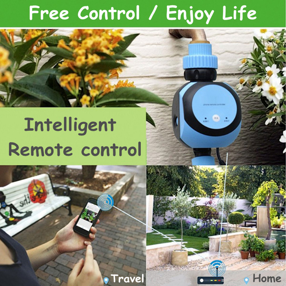 Phone Remote Control Watering System Water Timer WIFI Automatic Garden Water Timer Gateway-Automatic Irrigation Controller(China)