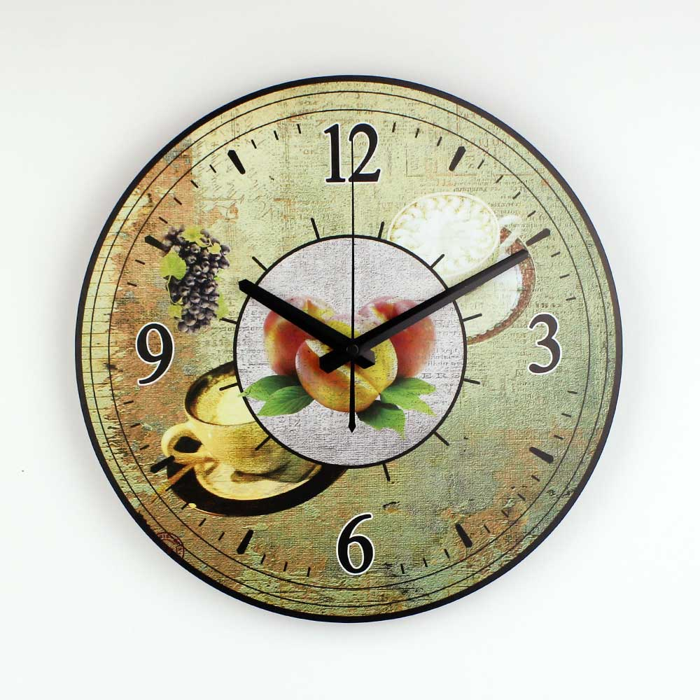 Coffee Decorative Wall Clock Home Decor Waterproof Clock
