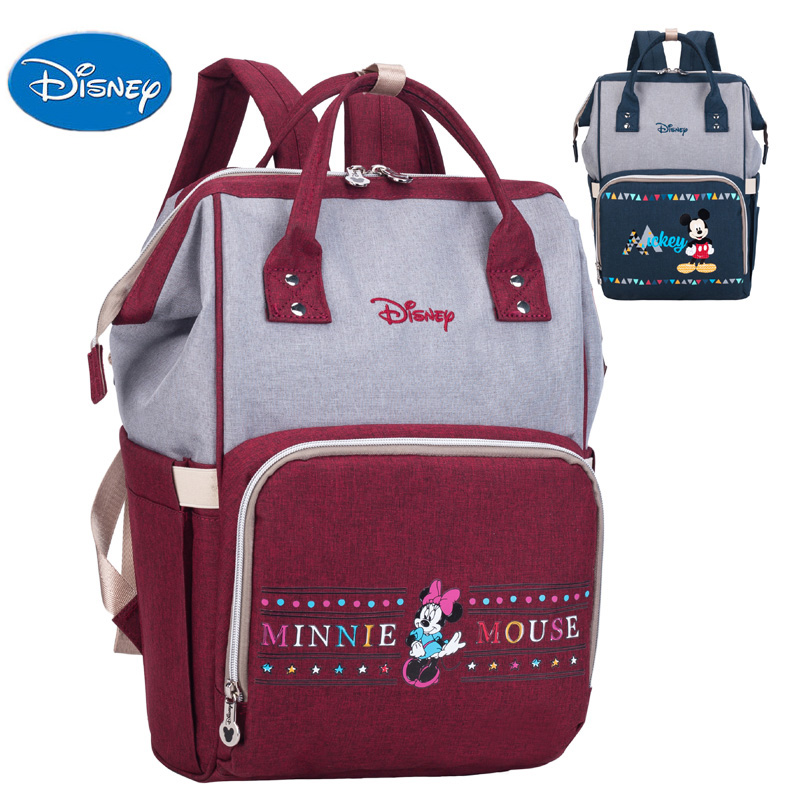 Baby Diaper Bag Maternity Travel Backpack Waterproof Nappy Bag Mini Mouse Mickey Mouse Design Large Capacity Fashion Handbag New
