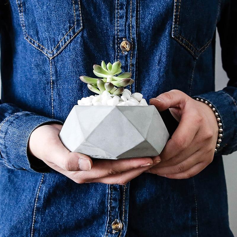 Geometric flower pot silicone mold Concrete Pot mold molds for plaster cement holder molds