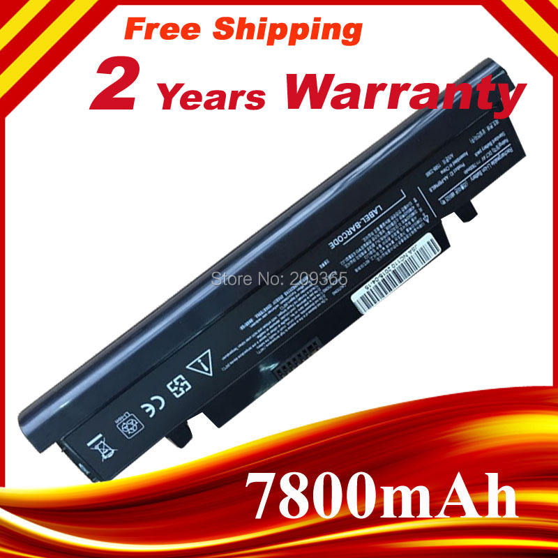 7800mAh Laptop Battery For SAMSUNG AA-PLPN6LB  AA-PLPN6LS  AA-PLPN6LW AA-PBPN6LB AA-PBPN6LS  AA-PBPN6LW NC110 NC210 NC208 NC215