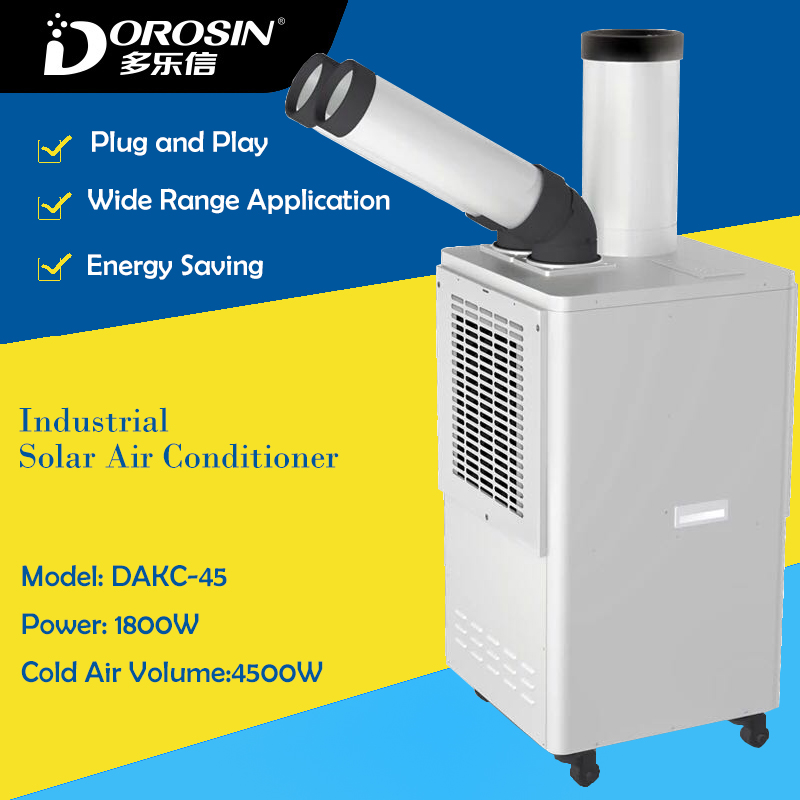 DAKC 45 Industrial Cold Air Making Machine Cold Air Conditioner for Workshop Equipment Cooling Down 8L Cold Air Humidifier