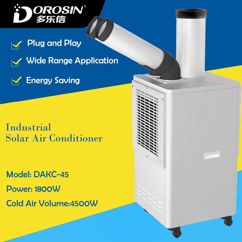 DAKC-45 Industrielle D'air Froid Faisant La Machine Froide Climatiseur pour Atelier Équipement De Refroidissement Vers Le Bas 8L Froid Air Humidificateur