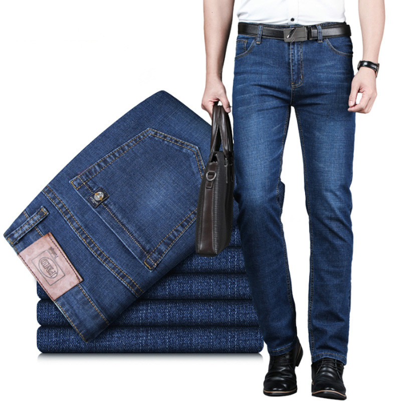 New Jeans Men Blue Jean Men's Jenas Business Classic Leisure Basic Styles Straight Pants High Quality Hot Sale Plus Size36 38 40