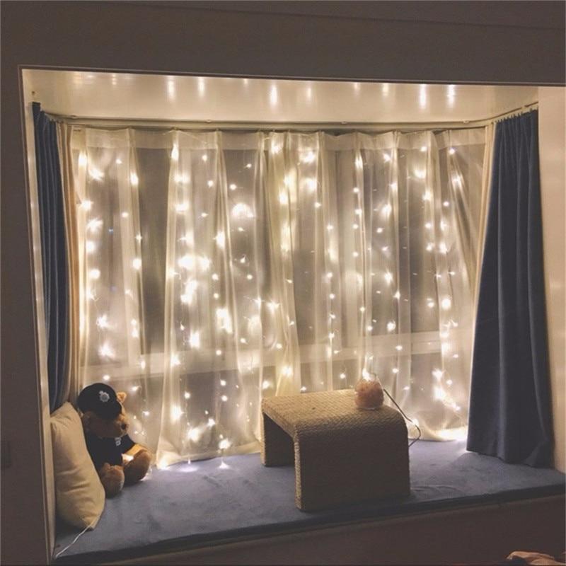 300leds fairy string icicle led curtain light 300 bulbs Outdoor Home - Oświetlenie wakacje - Zdjęcie 4
