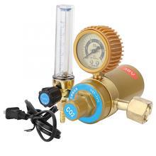 CO2 Регулятор давления углекислого газа редуктор давления с подогревом манометр 36 в CN Plug расходомер для MIG/TIG сварки