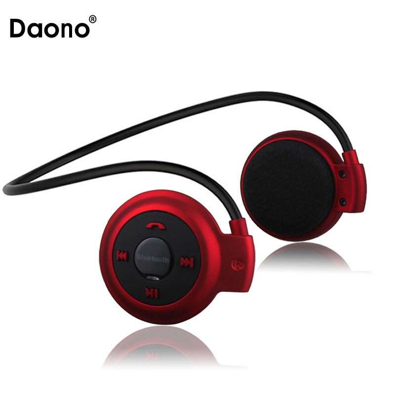 DAONO Mini 503 Mini503 Bluetooth 4.0 Headset Sport Wireless Headphones Music Stereo Earphones+Micro SD Card Slot+FM Speakers ks 509 mp3 player stereo headset headphones w tf card slot fm black