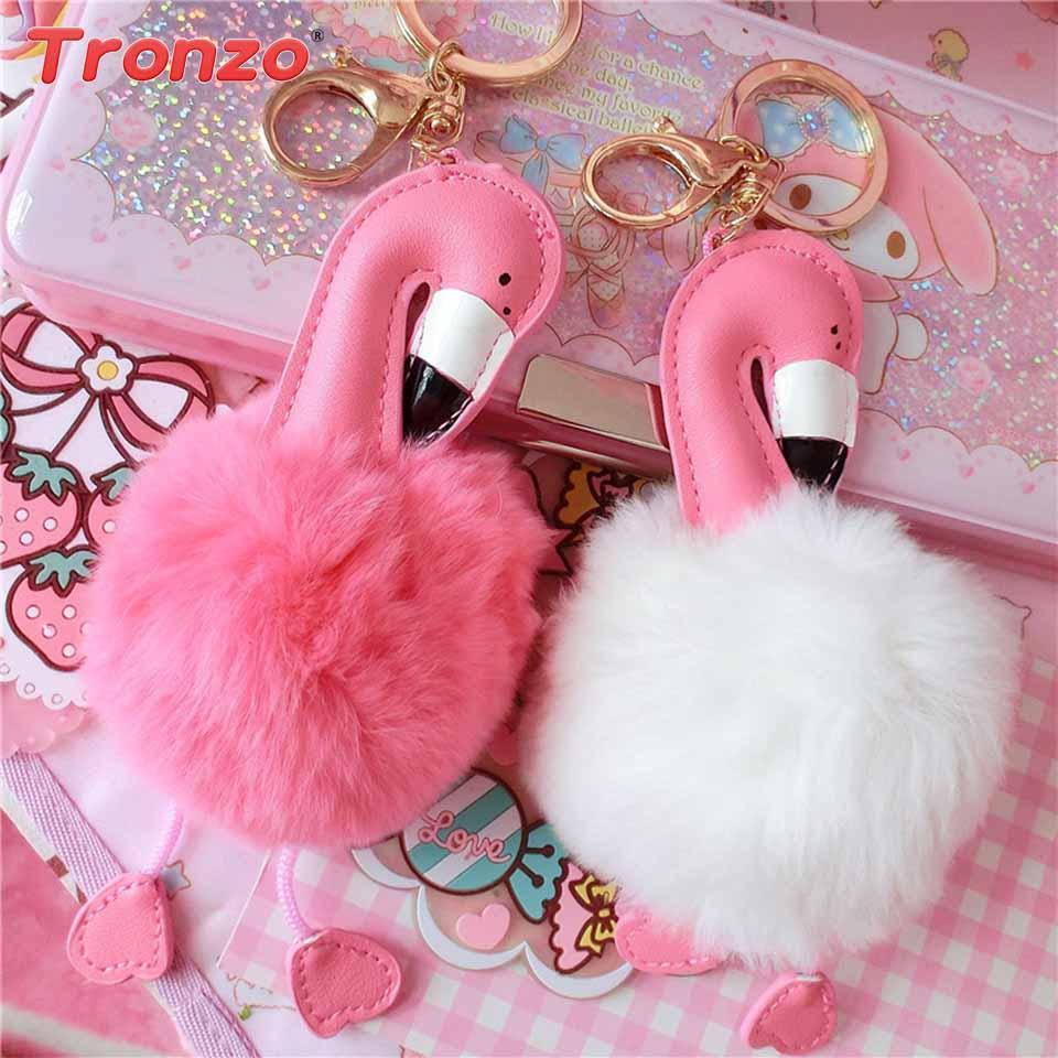 Tronzo Pompom Фламінго Брелок Flamingo Прикраса - Святкові та вечірні предмети