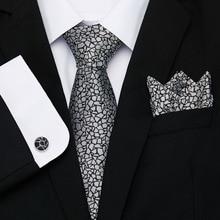 New Wedding Men Tie Grey Geometric Fashion Designer Ties For Business 8cm Dropshiiping Vangise Groom Kravat