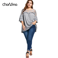 CharMma New 2018 Autumn Lace Up Top Flare Sleeve Yoke Frill Tunic Top Women Clothes 3