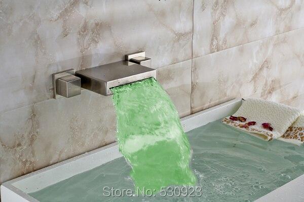 Cambiare Rubinetto Del Bagno : Muro del bagno montato pz vasca rubinetto nichel spazzolato