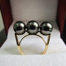 Eternal wedding Women Gift word 925 Sterling silver real Permanent Tahiti black pearl natural seawater round to 18K цена в Москве и Питере