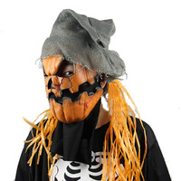 Pumpkin Scarecrow Ghosts Scary Mask Halloween Creepy Horror Prank Cosplay Masquerade Evil Emoji Party Masks Adult