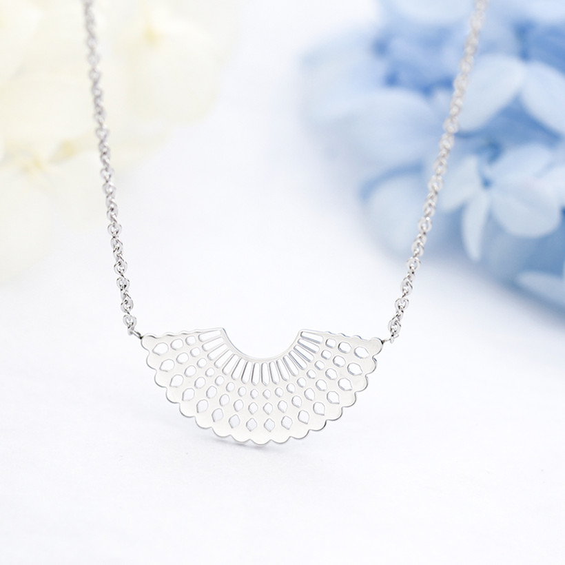 Geometry Sector Necklace Womens Jewellery Stainless Steel Rose Gold Jewelry Long Necklaces Bridesmaid Gift Collares Mujer