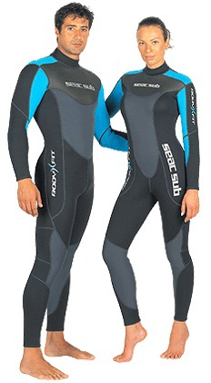 Seac Sub Wetsuit Body Fit 3mm Neoprene Male & Female, Water Sport Diving Snorkeling Outdoor seac sub гарпун seac нерж сталь для пневматического ружья asso 50