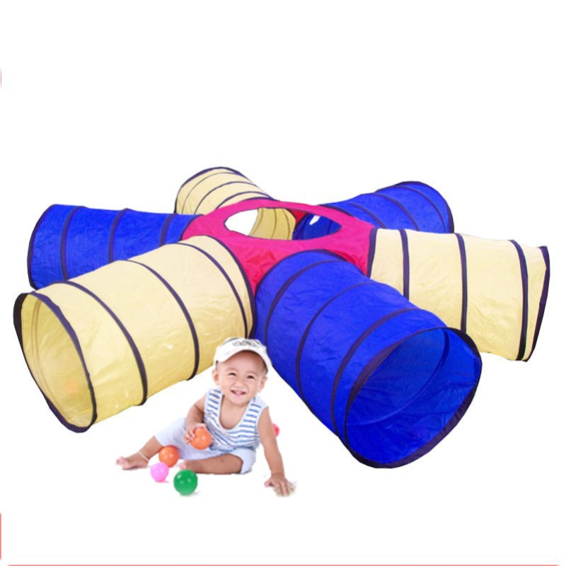 Free shipping funny 6 way tunnel tent indoor play tent pop up children playgroundsParent child interaction play games-in Toy Tents from Toys u0026 Hobbies on ...  sc 1 st  AliExpress.com & Free shipping funny 6 way tunnel tent indoor play tent pop up ...