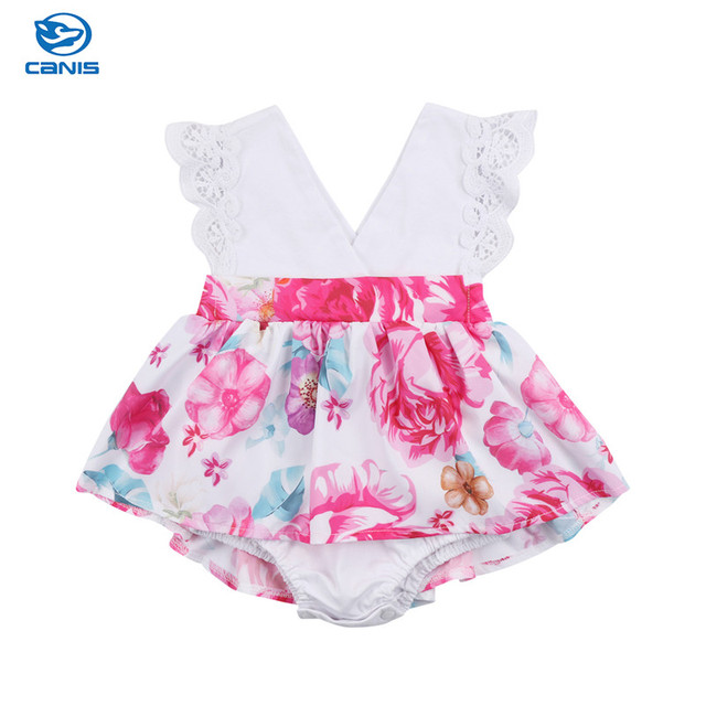 bc2ebc9627af Baby Kid Girl Little/Big Sister Matching Clothes Xmas Sweet Floral Cotton  Lace Short Sleeve Romper Dress Tutu Dress 2 piece