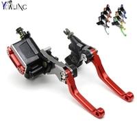 Dirt Bike Clutch Brake Lever With Cylinder Pump For With SUZUKI Logo RM RMZ RMX DR