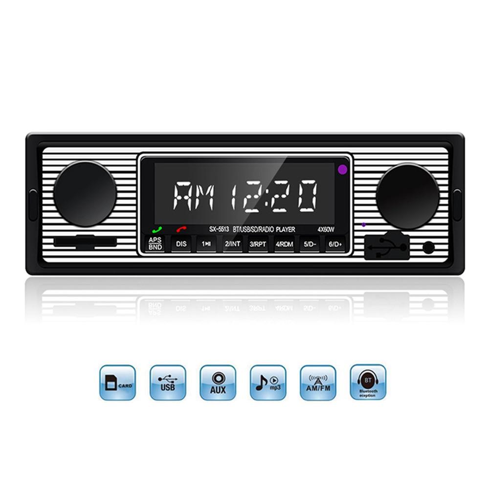 12 В Bluetooth винтажное автомобильное радио 1DIN стерео классическое аудио MP3 плеер FM радио приемник Поддержка Aux вход SD USB MMC DY325