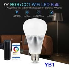Miboxer 2.4G YB1 9W RGB+CCT Wifi Led Bulb Wireless Lamp 2700K-6500K Dimmable 2 in 1 Smart Light AC100-240V
