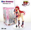 "Free Shipping Sexy 12"" High School DxD Rias Gremory Pole Dance ver. 1/7 Scale Boxed 30cm PVC Action Figure Collection Model Toy"