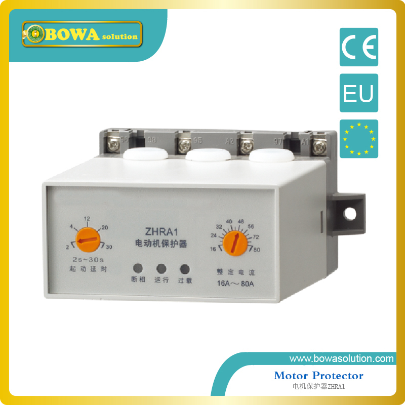Protector for 3 phase motor applied in control boxes of refrigeration unit ZHRA1-6A~30A/220V-10