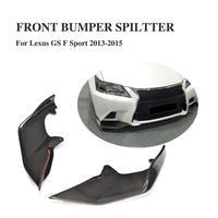 Carbon fiber front bumper Lip splitters flaps Aprons for Lexus GS350 2012 2013 2014 2015 F Sport Bumper Only