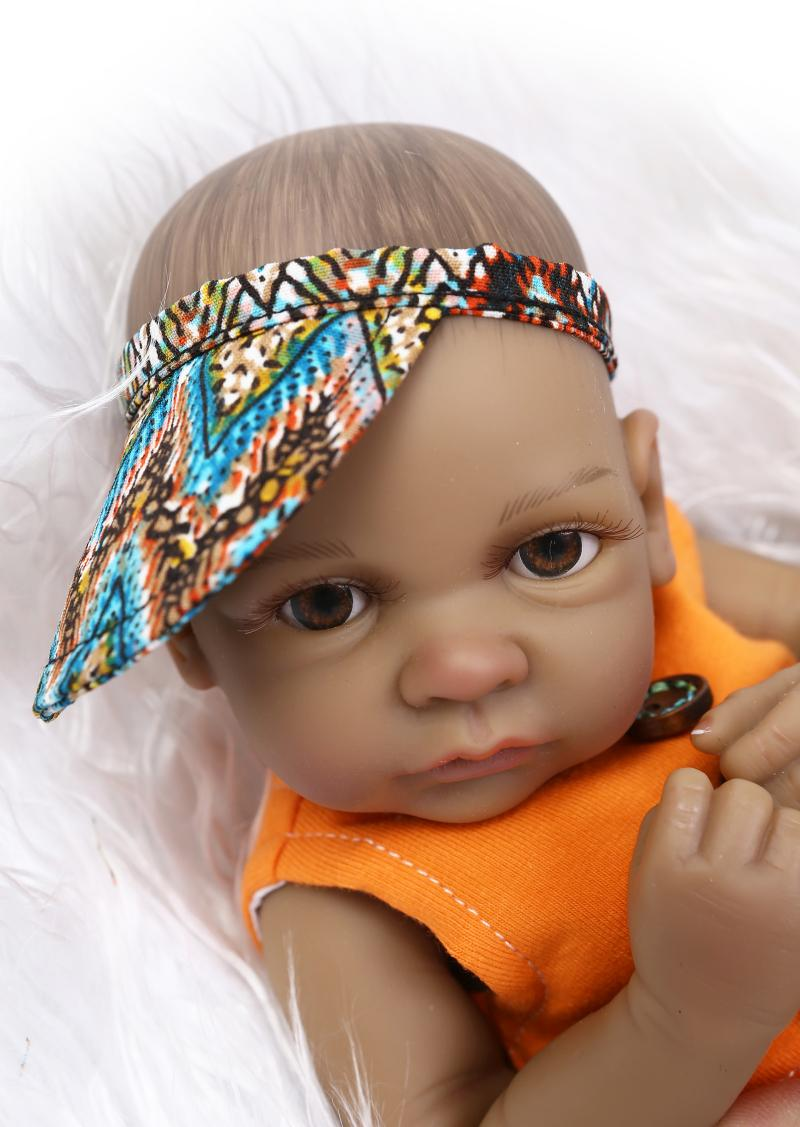10 mini black reborn babies african american baby girl boy doll reborn ethnic alive dolls brinquedos juguetes in dolls from toys hobbies on