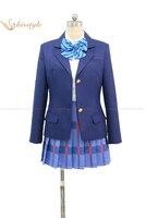 Kisstyle Fashion Love Live! Eli Ayase Rin Hoshizora Cosplay Costume Otonokizaka Academy Uniform,Customized Accepted