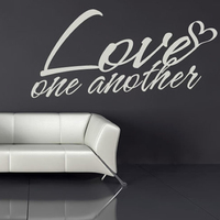 Love One Another Heart Embellishment Love Quotes Wall Stickers Home Art Decals