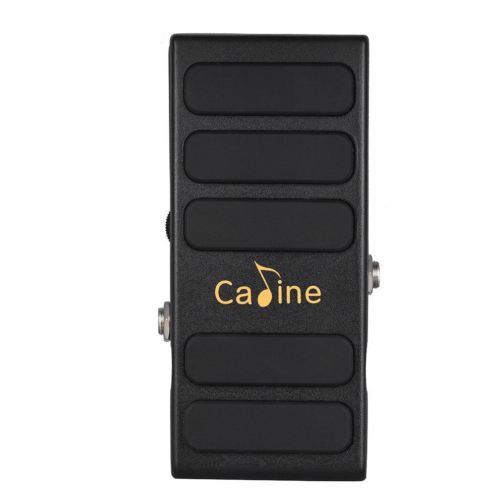 Incroyable Caline CP-31 épice chaude noir Wah Volume guitare effet pédale véritable dérivation pleine coque en métal